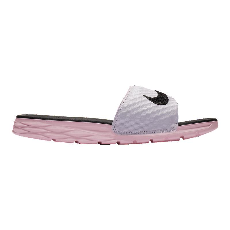 fb193290f1be Nike Women s Benassi Solarsoft Sandals - Pink Black