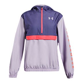 a2c56e781 Under Armour Girls' Packable 1/2 Zip Anorak Jacket