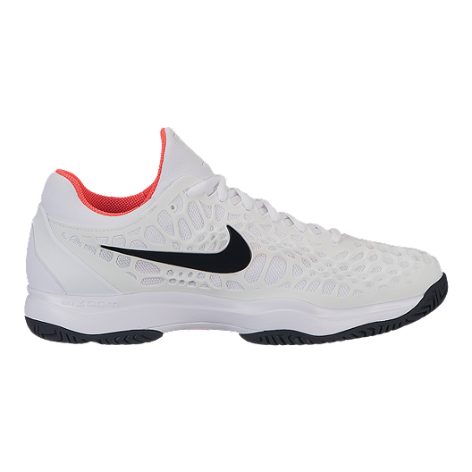 3eaf8a8020fb Nike Men s Air Zoom Cage 3 Tennis Shoes - White Black
