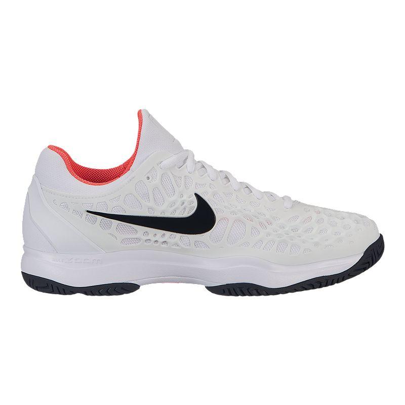 76f6f98b77e0 Nike Men s Air Zoom Cage 3 Tennis Shoes - White Black (883412164207) photo