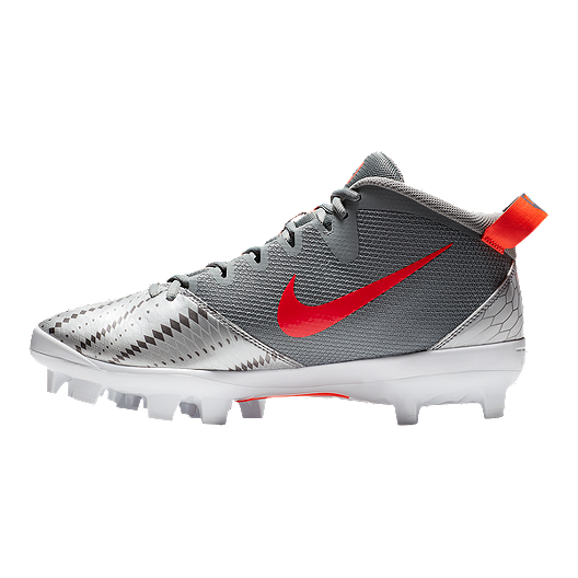e3e066d6d36c Nike Men s Force Trout 5 Pro MCS Baseball Cleats - Grey Crimson ...