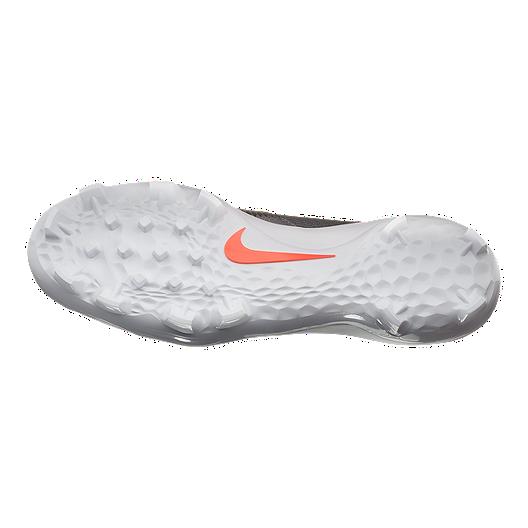 e2a93e9b3d7 View Description. Nike Men s Force Trout 5 Pro MCS Baseball Cleats - Grey Crimson  - METALLIC SILVER
