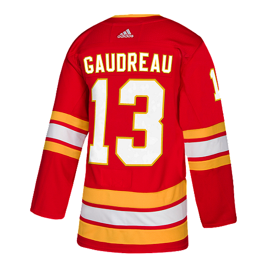3ac8090f580 Calgary Flames adidas Johnny Gaudreau Authentic 3rd Jersey - RED