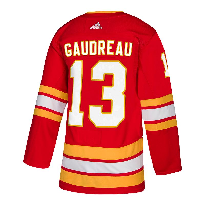 44f7bf628cd9 Calgary Flames adidas Men s Johnny Gaudreau Authentic 3rd Jersey  (191523006201) photo