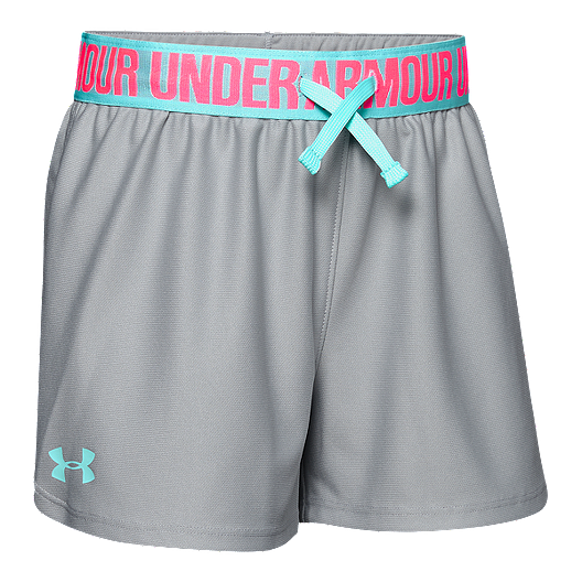 b3a92a326 Under Armour Girls' Play Up Short - Light Grey | Sport Chek