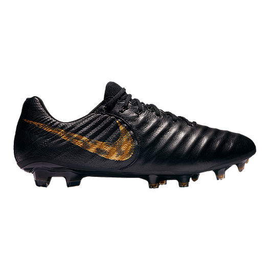 734adcd9be62 Nike Men s Tiempo Legend 7 Elite FG Soccer Cleats - Black Gold ...