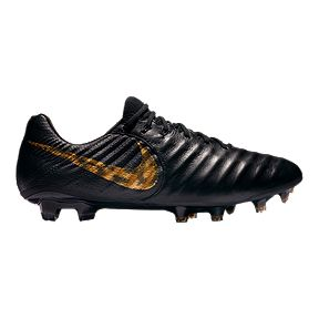ed9b3f92d15 Nike Men s Tiempo Legend 7 Elite FG Soccer Cleats - Black Gold