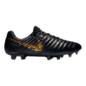 Nike Unisex Tiempo Legend 7 Elite FG Soccer Cleats - Black/Gold