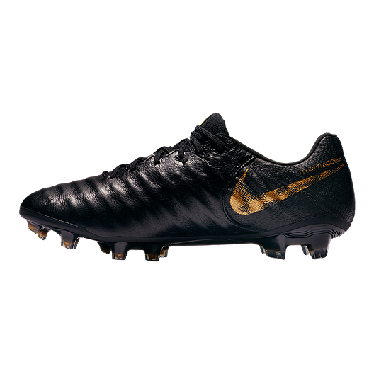 13cafab7d Nike Men s Tiempo Legend 7 Elite FG Soccer Cleats - Black Gold ...