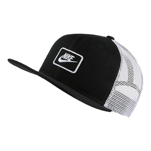 5ed77b806ab82 Nike Kids' True Trucker Hat - BLACK/WHITE