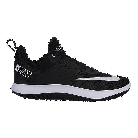 7281bddb Nike Men's Fly By Low II Basketball Shoes - Black/White | Sport Chek