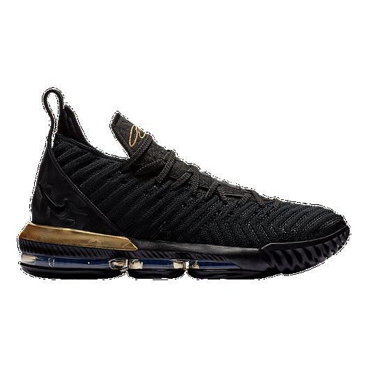 Nike Men's LeBron XVI Basketball Shoes - Black/Gold | Sport Chek