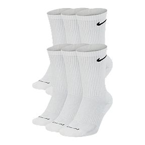 separation shoes 3edc9 a57b6 Nike Everyday Plus Cushion Crew Training Socks (6 Pair)