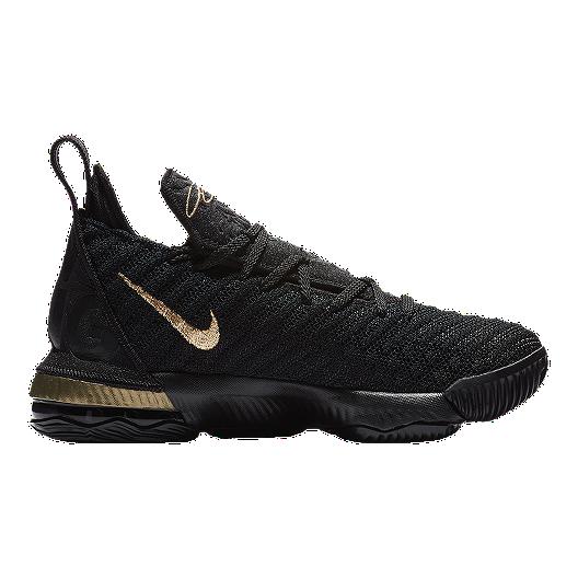 e2f9a1c044b Nike Boys  Grade School Lebron XVI I m King Edition Basketball Shoes -  Black Gold