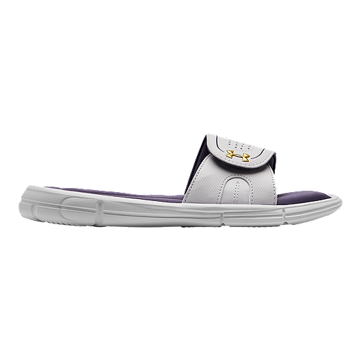 c4287a5eed5 Under Armour Women s Ignite VIII Slide Sandals - Purple Luxe White ...