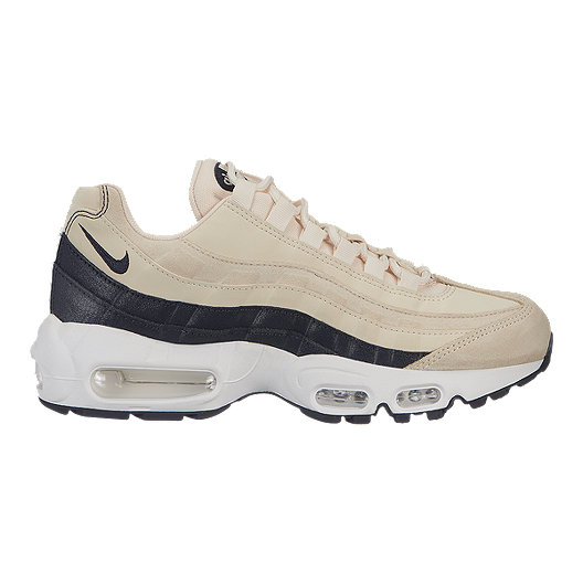 4a87de335f Nike Women's Air Max 95 Premium Shoes - Light Cream/Grey/White