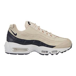 Nike Women s Air Max 95 Premium Shoes - Light Cream Grey White 1a6c2cea596a5
