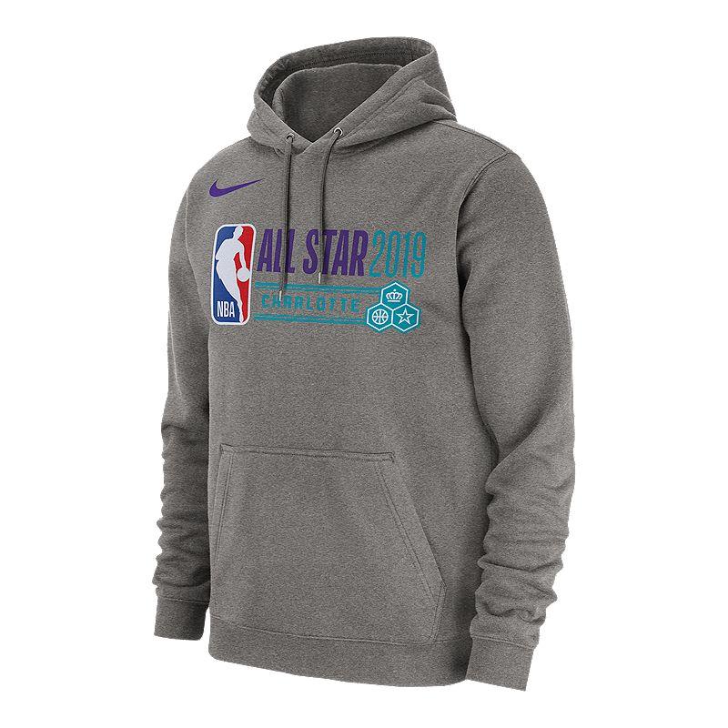 NBA 2019 All-Star Club Logo Hoodie - Grey (NIKE 192500189252) photo fef40e86b