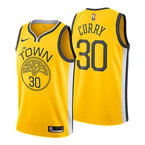 88cae5d12ee9 Golden State Warriors Men s Nike NBA Earned Edition Curry Swingman Jersey
