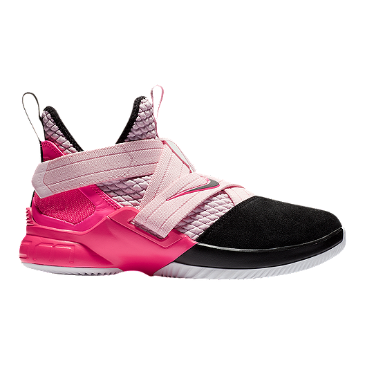 brand new e7a43 f69bd Nike Boys  Lebron Soldier XII Grade School Basketball Shoes - Pink  Foam Black White   Sport Chek
