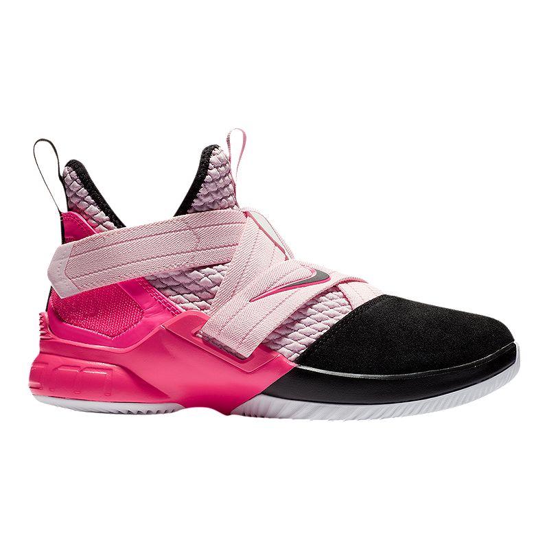 best service 0d497 5414e Nike Boys  Lebron Soldier XII Grade School Basketball Shoes - Pink  Foam Black