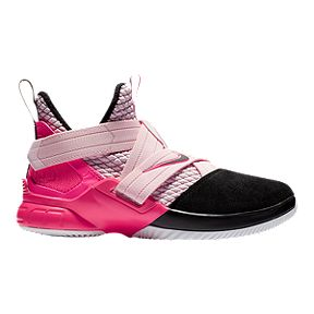 7f568f3aec61 Nike Boys  Lebron Soldier XII Grade School Basketball Shoes - Pink  Foam Black