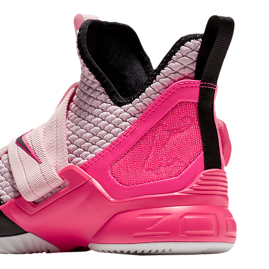 85c5a4cfac8 Nike Boys  Lebron Soldier XII Grade School Basketball Shoes - Pink Foam  Black White. (0). View Description