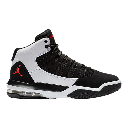newest 41f7b 8c262 Jordan Kids  Max Aura Basketball Shoes - White Black Red   Sport Chek