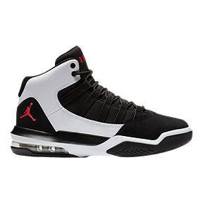 2ea80971cd73 Jordan Kids  Max Aura Basketball Shoes - White Black Red