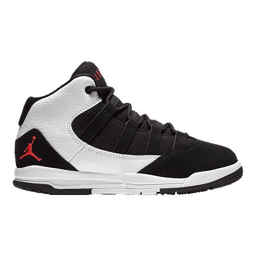 45f5e3ff5f8 Jordan Boys' Max Aura Pre-School Basketball Shoes - White/Black/Red ...