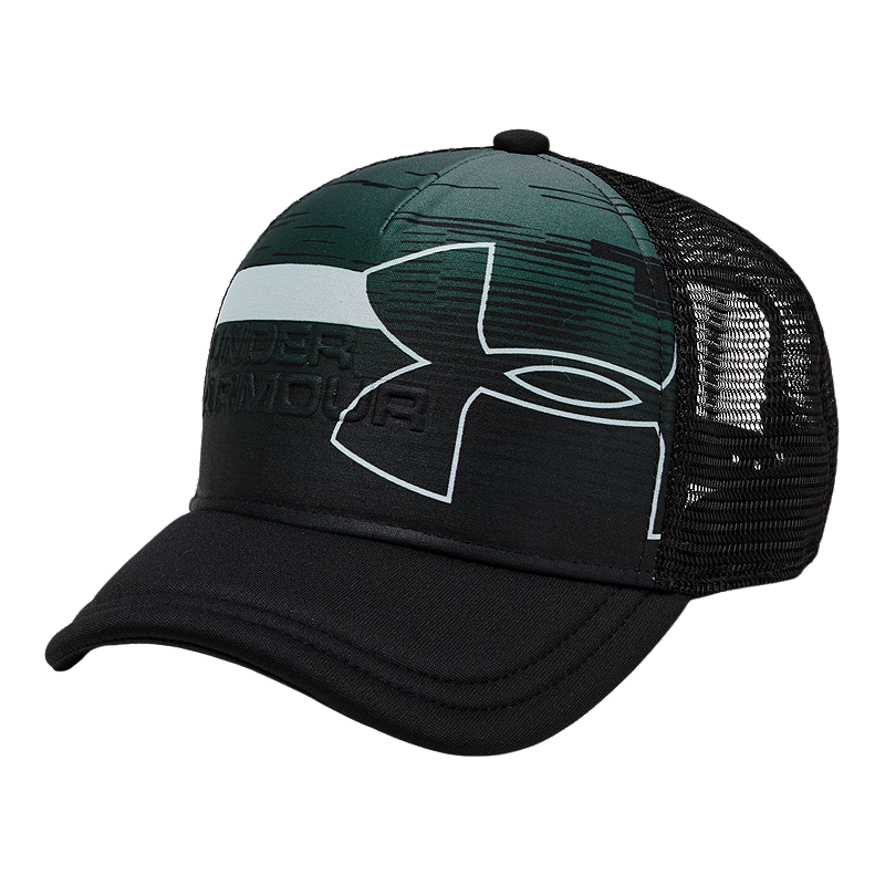 84e2a973a33685 Under Armour Boys' Sportstyle Trucker Hat - Black   Sport Chek