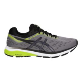 ASICS Men's GT-1000 7 2E Running Shoes - Grey/Black