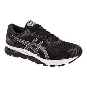 bfbf815394b ASICS Men s Gel Nimbus 21 2E Running Shoes - Black Grey