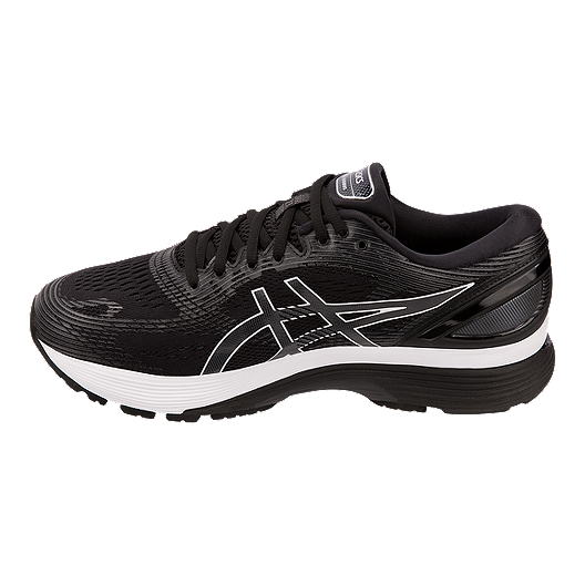 ASICS Men's Gel Nimbus 21 2E Running Shoes BlackGrey