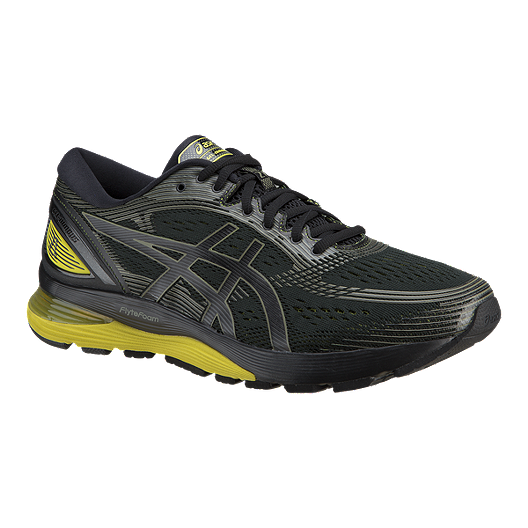 ea373abc6 ASICS Men s Gel Nimbus 21 Running Shoes - Black Yellow