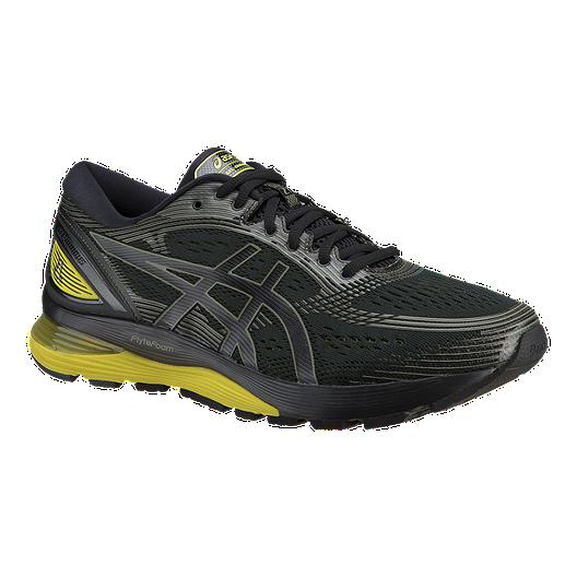 ee37819ba37a ASICS Men s Gel Nimbus 21 Running Shoes - Black Yellow