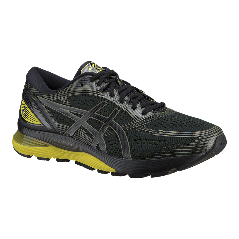 new concept 2699e d0a71 ASICS Men's Gel Nimbus 21 Running Shoes - Black/Yellow