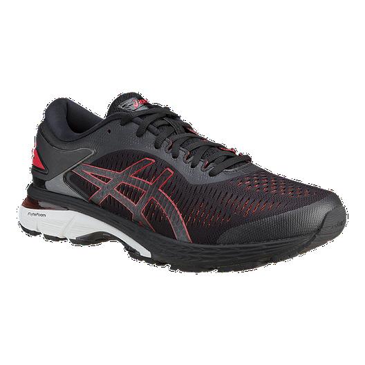 consultor revista canal  ASICS Men's Gel Kayano 25 Running Shoes - Black/Red | Sport Chek
