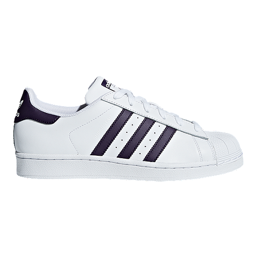 sold worldwide differently superior quality adidas Women's Superstar Shoes - White/Legend Purple