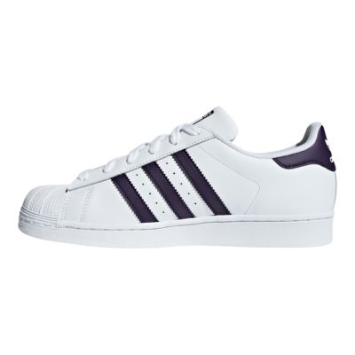 adidas superstar casual sneakers color purple/white