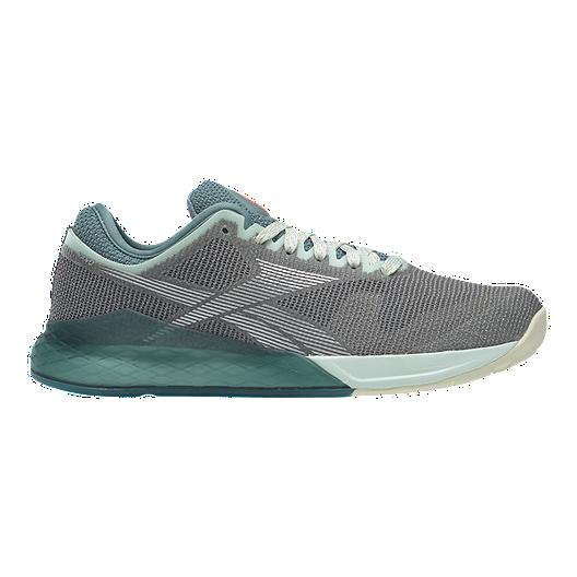d1b0753c Reebok Women's CrossFit Nano 9 Training Shoes - Grey/Teal