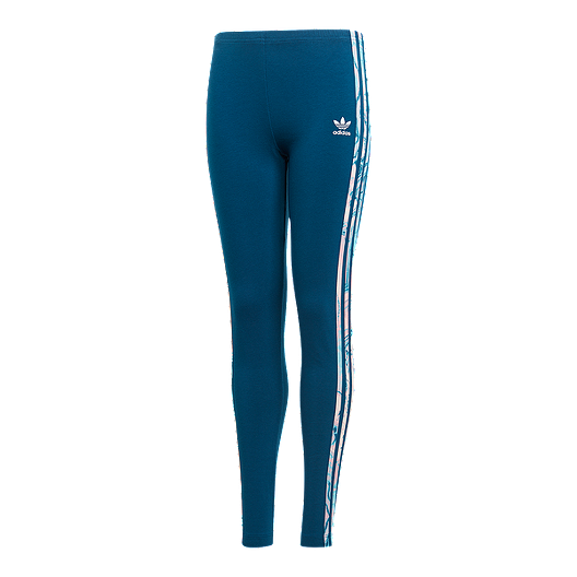 4f8bf1f9e61f24 adidas Girls' Originals Marble 3-Stripe Leggings | Sport Chek