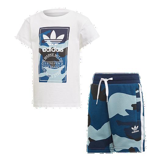 ed223e4fbc adidas Originals Boys' 4-7 Camo Tee and Short Set | Sport Chek