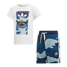adidas Originals Boys' 4-7 Camo Tee and Short Set
