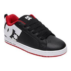 09e64bfaed DC Men s Court Graffik Shoes - Red Black White