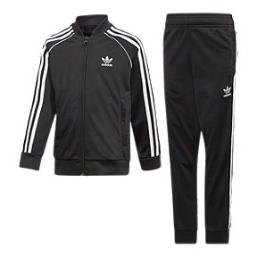 adidas Originals Girls' 4-7 SST Track Suit - Black