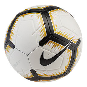 Nike Strike Size 5 Soccer Ball - White/Black/Gold