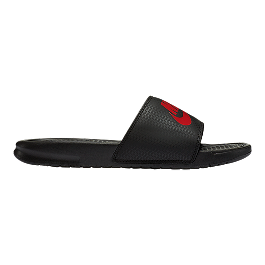 8078fa4ce49a Nike Men s Benassi JDI Sandals - Black Challenge Red