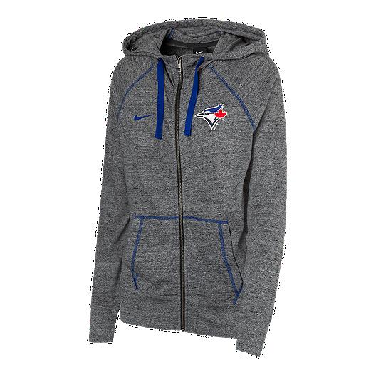 Toronto Blue Jays Nike Women's Gym Vintage Full Zip Hoodie