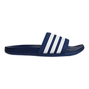 adidas Men s Adilette CF+ Slide Sandals - Collegiate Navy White f7f6a0656